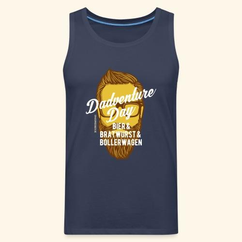 lustiges Vatertags-Shirt Dadventure Day - Männer Premium Tank Top