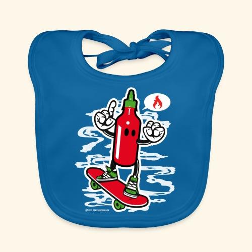 Skating Chili Sauce T-paidat - Baby Bio-Lätzchen