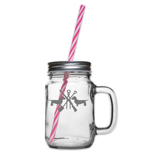 pink - Henkelglas mit Schraubdeckel