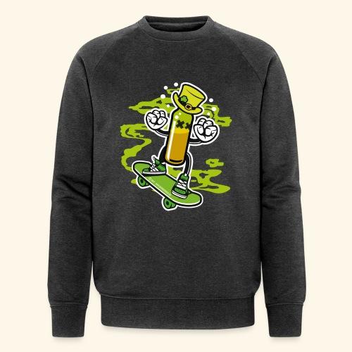 Irish Whiskey Bottle on a Skateboard - Männer Bio-Sweatshirt von Stanley & Stella