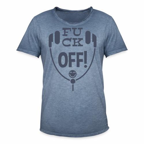 Fuck Off - Männer Vintage T-Shirt