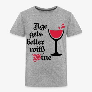 Age gets better with Wine Love Wein Männer T-Shirt - Kinder Premium T-Shirt