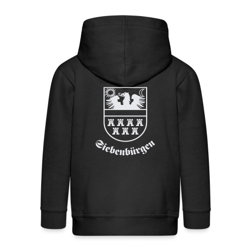 T-Shirt Siebenbürgen-Wappen Siebenbürgen schwarz - Kinder Premium Kapuzenjacke