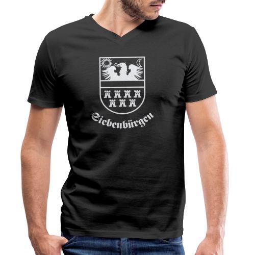 T-Shirt Siebenbürgen-Wappen Siebenbürgen schwarz - Männer Bio-T-Shirt mit V-Ausschnitt von Stanley & Stella