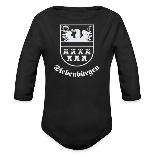 T-Shirt Siebenbürgen-Wappen Siebenbürgen schwarz - Baby Bio-Langarm-Body