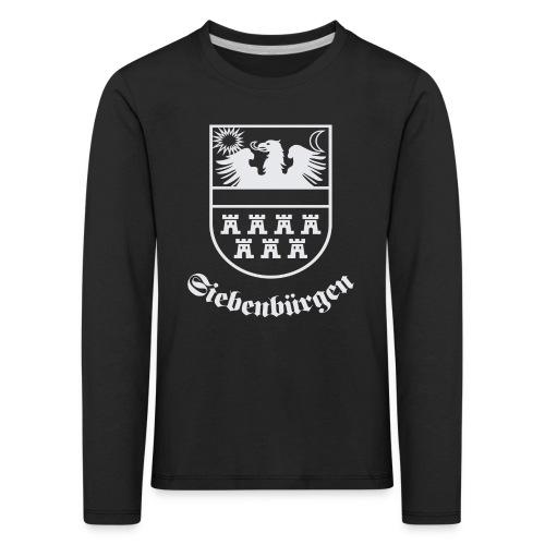 T-Shirt Siebenbürgen-Wappen Siebenbürgen schwarz - Kinder Premium Langarmshirt