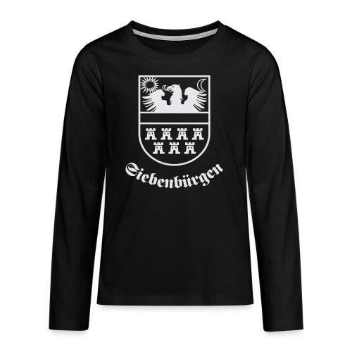 T-Shirt Siebenbürgen-Wappen Siebenbürgen schwarz - Teenager Premium Langarmshirt