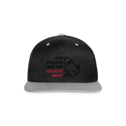 Doggenliebe - Kontrast Snapback Cap