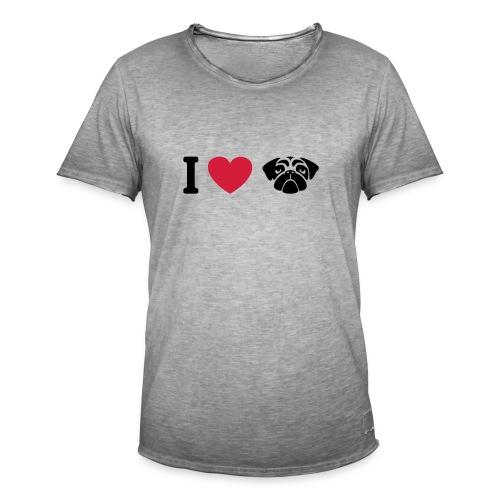 I love mops - Männer Vintage T-Shirt