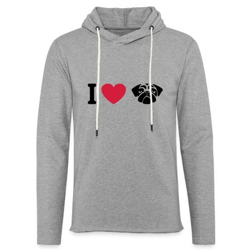 I love mops - Leichtes Kapuzensweatshirt Unisex