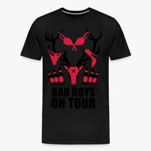 Hirsch mit Beute Bad Boys on Tour JGA T-Shirt - Männer Premium T-Shirt