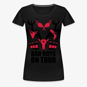 Hirsch mit Beute Bad Boys on Tour JGA T-Shirt - Frauen Premium T-Shirt
