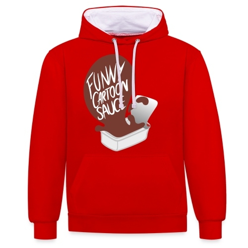 FUNNY CARTOON SAUCE - Mens - Contrast Colour Hoodie