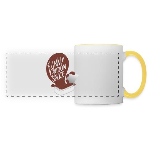 FUNNY CARTOON SAUCE - Mens - Panoramic Mug