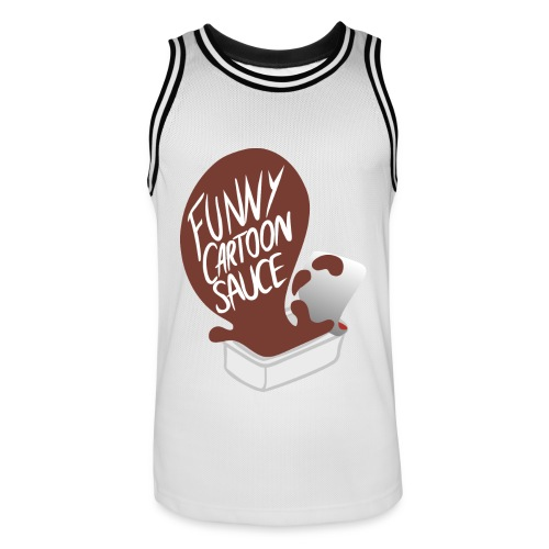 FUNNY CARTOON SAUCE - Mens - Men's Basketball Jersey