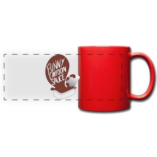 FUNNY CARTOON SAUCE - Mens - Full Color Panoramic Mug