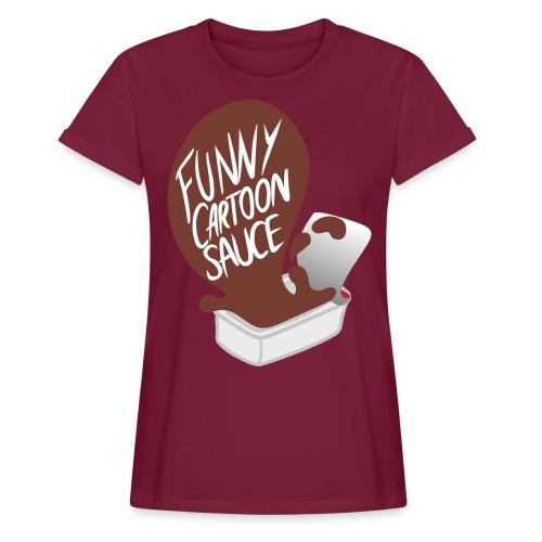 FUNNY CARTOON SAUCE - Mens - Women's Oversize T-Shirt