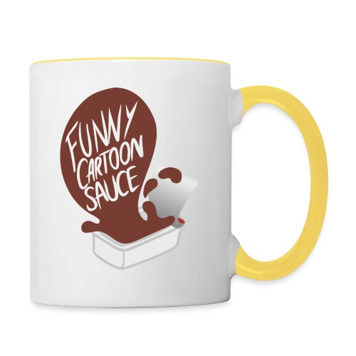 FUNNY CARTOON SAUCE - Mens - Contrasting Mug