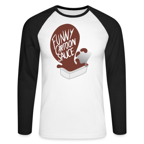 FUNNY CARTOON SAUCE - Mens - Men's Long Sleeve Baseball T-Shirt