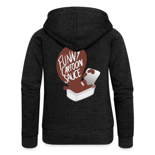 FUNNY CARTOON SAUCE - Mens - Women's Premium Hooded Jacket