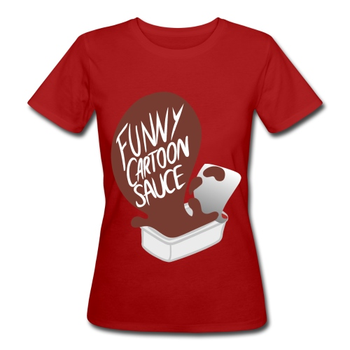 FUNNY CARTOON SAUCE - Mens - Women's Organic T-Shirt