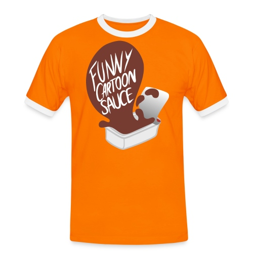 FUNNY CARTOON SAUCE - Mens - Men's Ringer Shirt