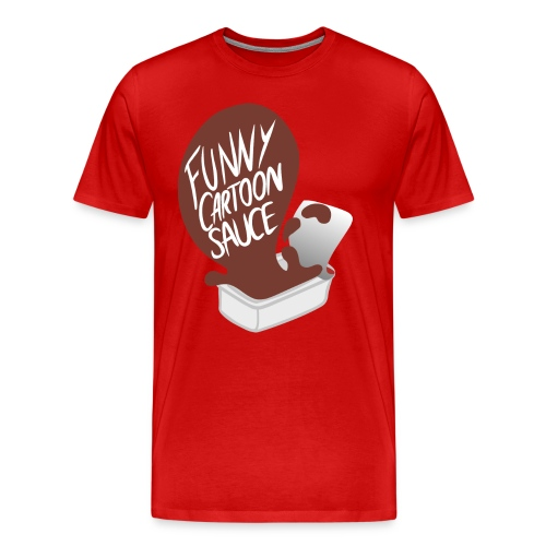 FUNNY CARTOON SAUCE - Mens - Men's Premium T-Shirt