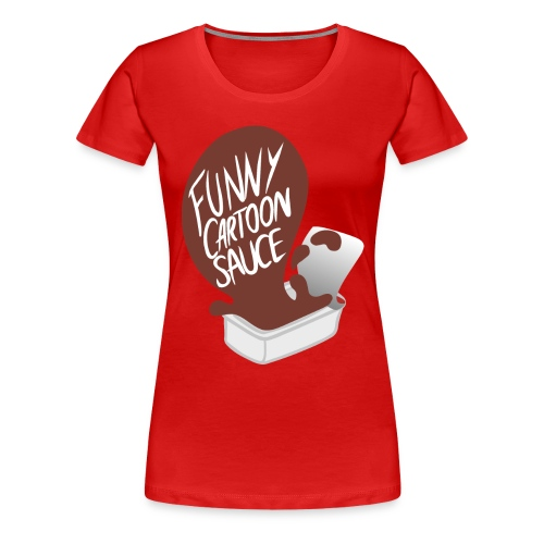 FUNNY CARTOON SAUCE - Mens - Women's Premium T-Shirt