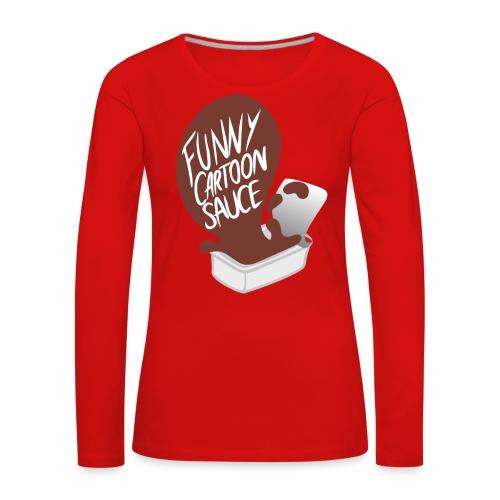 FUNNY CARTOON SAUCE - Mens - Women's Premium Longsleeve Shirt