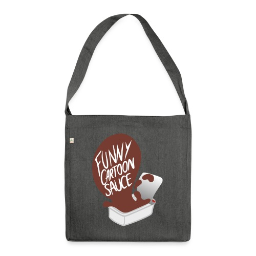 FUNNY CARTOON SAUCE - Mens - Shoulder Bag made from recycled material