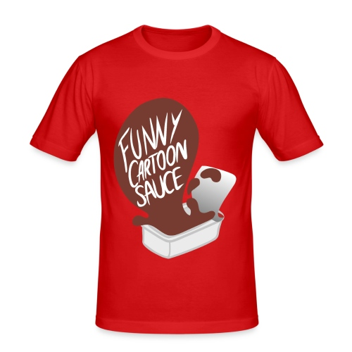 FUNNY CARTOON SAUCE - Mens - Men's Slim Fit T-Shirt