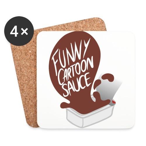 FUNNY CARTOON SAUCE - Mens - Coasters (set of 4)