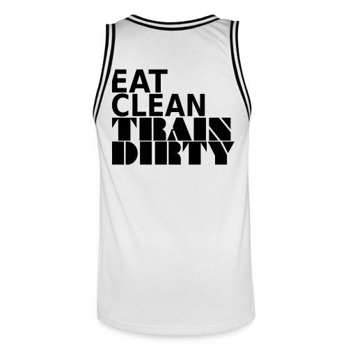 Eat Clean Train Dirty - Männer Basketball-Trikot