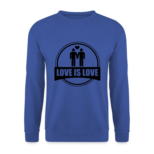T-SHIRT LOVE IS LOVE GAY - Sweat-shirt Homme