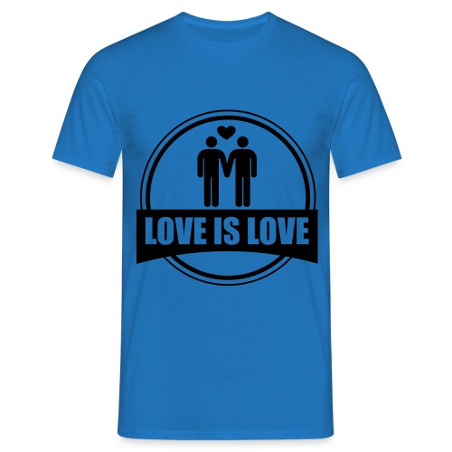 T-SHIRT LOVE IS LOVE GAY - T-shirt Homme