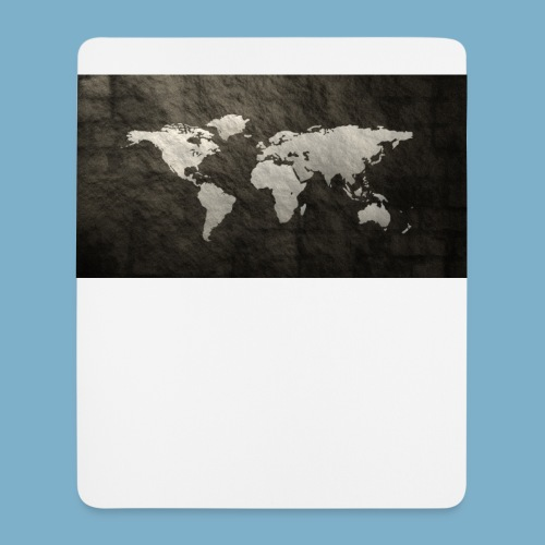 Weltkarte - Mousepad (Hochformat)