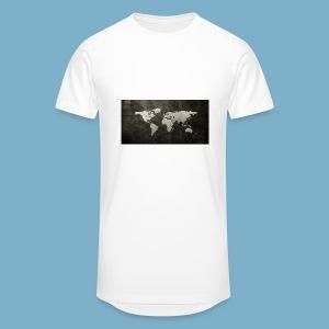 Weltkarte - Männer Urban Longshirt
