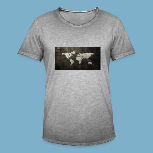 Weltkarte - Männer Vintage T-Shirt