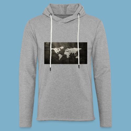 Weltkarte - Leichtes Kapuzensweatshirt Unisex