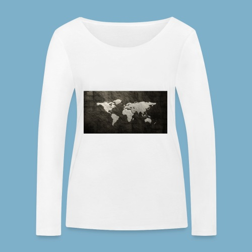 Weltkarte - Frauen Bio-Langarmshirt von Stanley & Stella