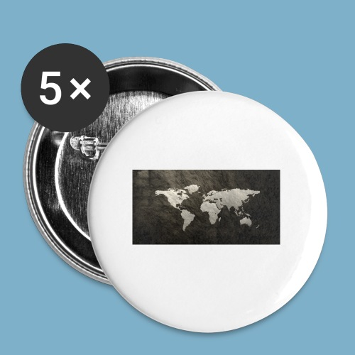 Weltkarte - Buttons groß 56 mm