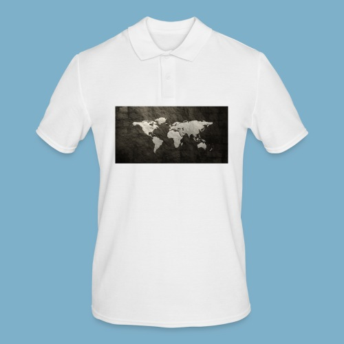 Weltkarte - Männer Poloshirt