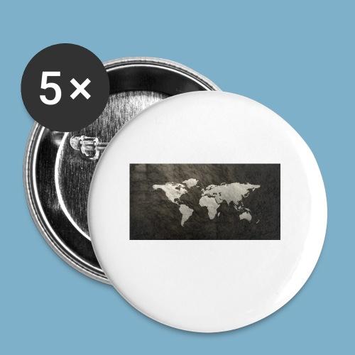 Weltkarte - Buttons klein 25 mm