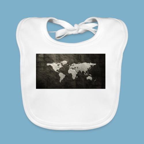 Weltkarte - Baby Bio-Lätzchen