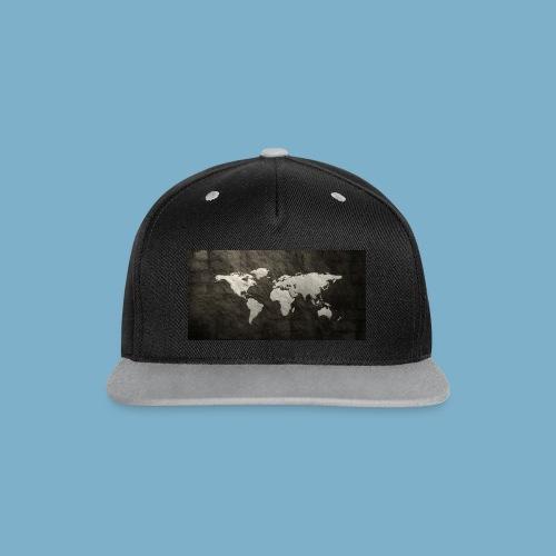 Weltkarte - Kontrast Snapback Cap