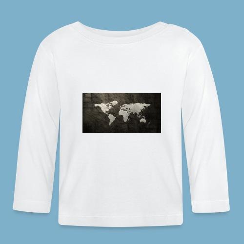 Weltkarte - Baby Langarmshirt