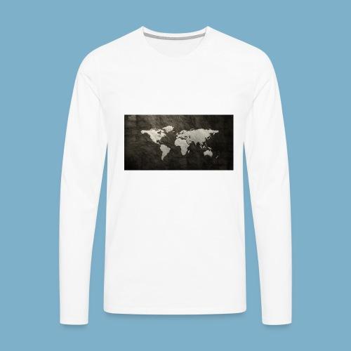 Weltkarte - Männer Premium Langarmshirt