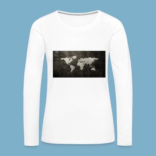 Weltkarte - Frauen Premium Langarmshirt