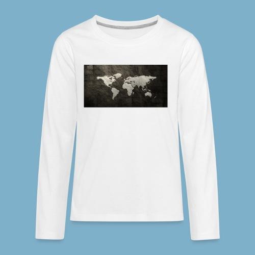 Weltkarte - Teenager Premium Langarmshirt
