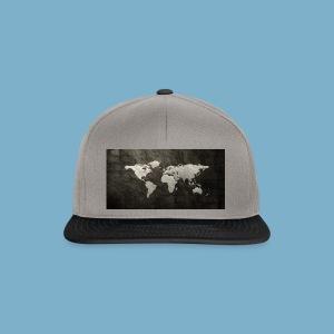 Weltkarte - Snapback Cap